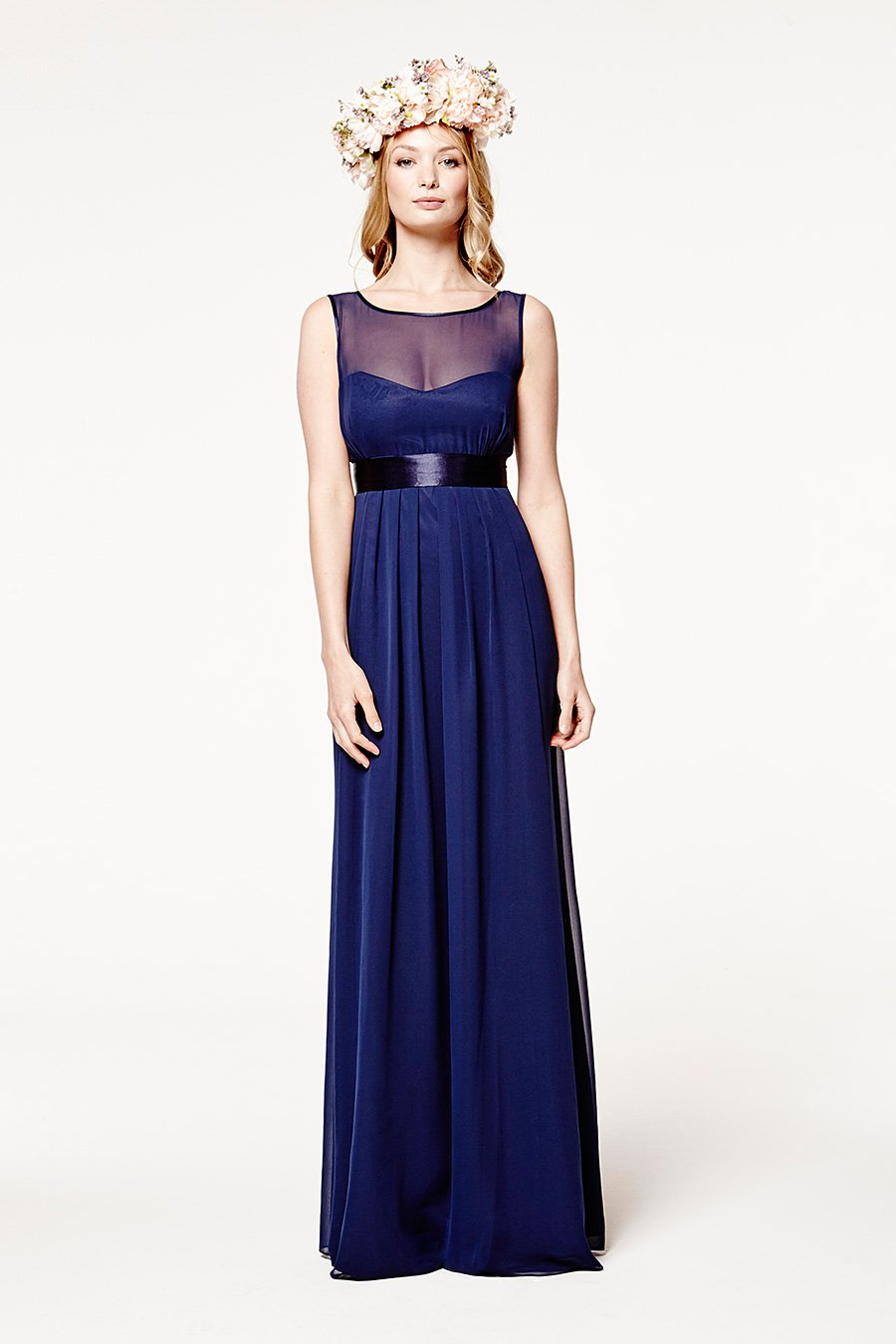 Charlotte Floaty Midnight Blue Dress