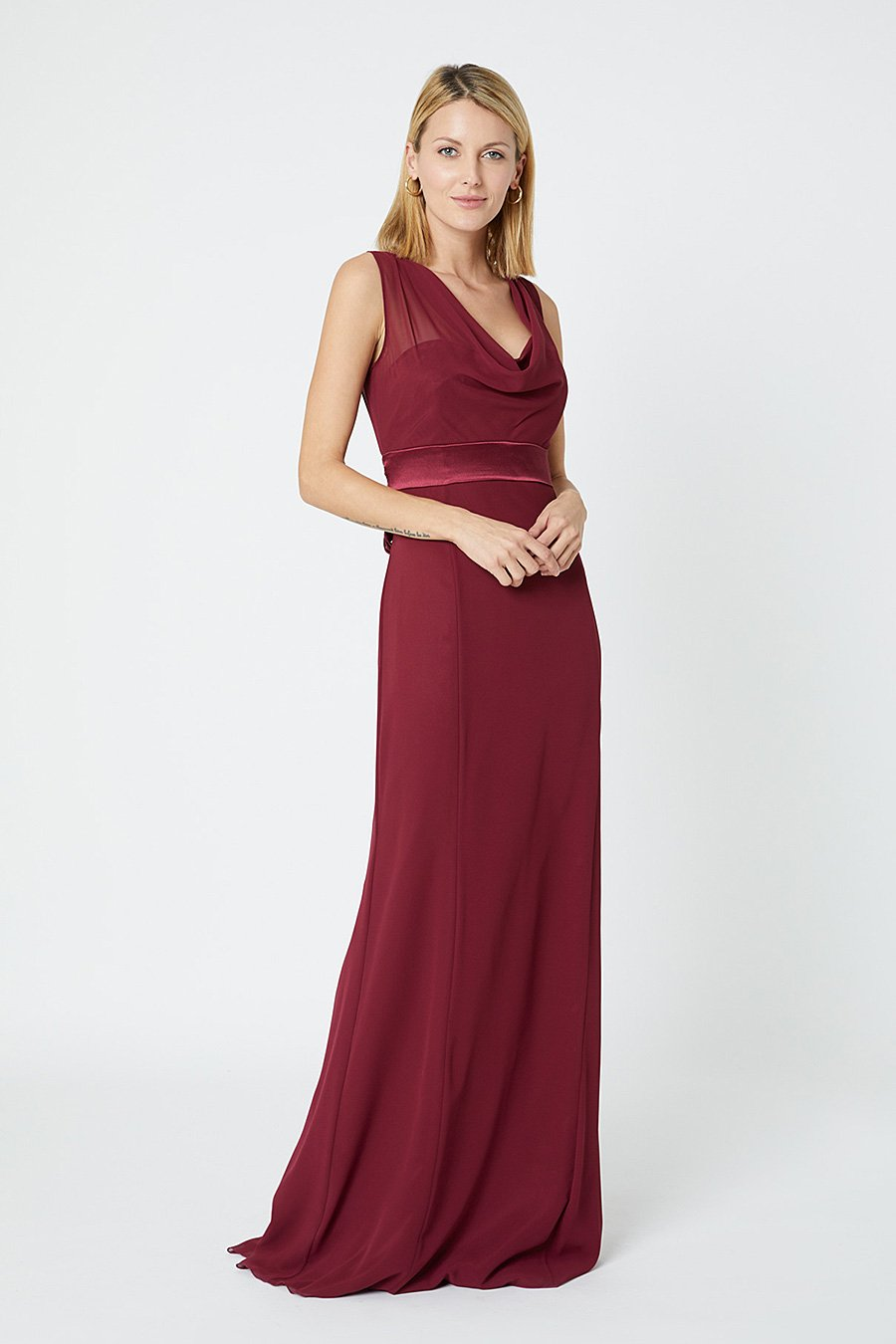 Penelope_fitted-Burgundy_Red-Front