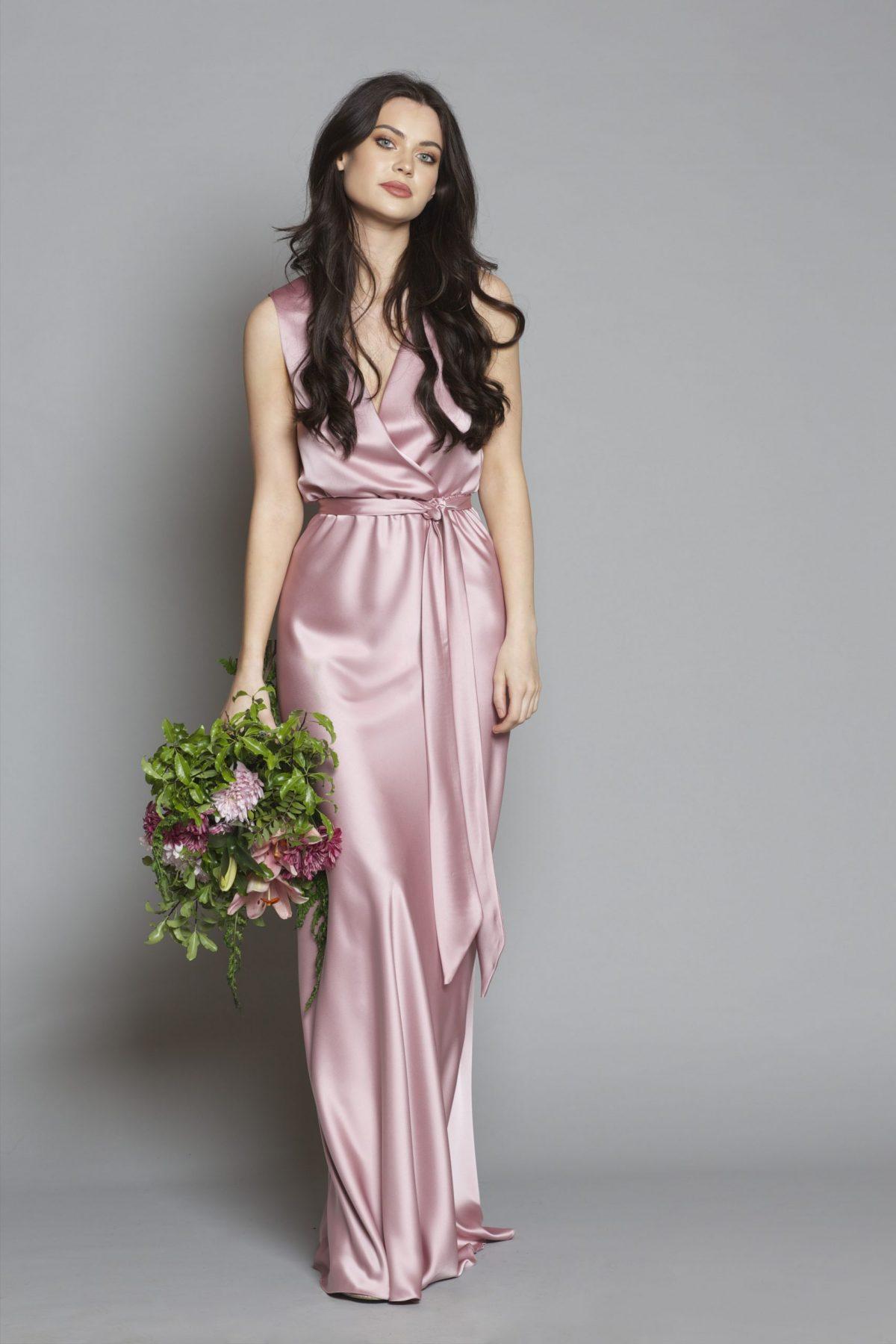 Satin Lily Dress Rose pink